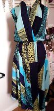 Julien Macdonald Animal/Abstract Print Fit & Flare midi Dress Size 12