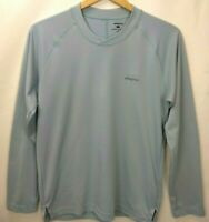 Patagonia Mens Long Sleeve Graphic Tech Fish Tee Shirt Size Small Blue Pullover
