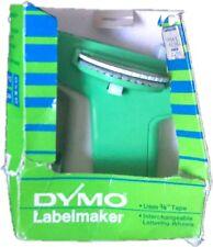 "Vintage Dymo Model 1720 Labelmaker  3/8"" Tape Hand Held Label Maker Green Black"