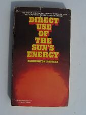 Direct Use of the Sun's Energy by Farrington Daniels (1977, Paperback)