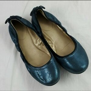 Maria Sharapova for Cole Haan Metallic Blue Ballet Flats Women's Sz 7.5