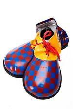 Karneval Zirkus Kinderparty übergroße Clownschuhe Clown rot blau kariert VQ-026C