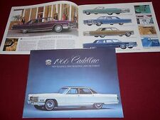 1966 CADILLAC VINTAGE ORIGINAL 16 Page BROCHURE, 66 SALES CATALOG, EXCELLENT