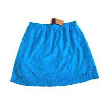 Francescas Womens Skirt Blue Rain Crochet lace mini Bodycon Stretch Skirt Small