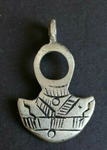 VERY STUNNING ANCIENT OLD AMULET SILVER AXE ARTIFACT AUTHENTIC