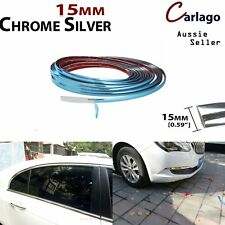 8M Car Chrome Silver Styling Moulding Trim Tape Strip Window Roof Grille Protect