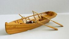 TWO MAN ROWING SKIFF BOAT 30 CM WOODEN CLINKER CONSTRUCTION NAUTICAL