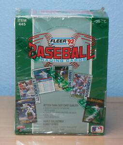 1992 FLEER BASEBALL TRADING CARDS - 36 PACK - FULL BOX - FACTORY SEALED