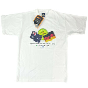 Vintage 2000 David Cup Official Licensed Tennis T-shirt Aus V Germany Size S NEW
