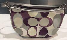 Coach Soho Scarf Purple Sateen Clutch Cosmetic Bag