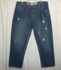 Akademiks Distressed Denim Jeans Men's 46 X 34 Blue