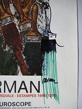 ARMAN DESSIN AU FEUTRE SIGNÉ SUR AFFICHE HANDSIGNED FELT DRAWING ON POSTER NICE