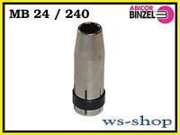 MB 24 (TBi 240) Gasdüse konisch von Abicor BINZEL NW Ø 12,5mm