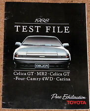 1988 TOYOTA TEST FILE Brochure -Celica GT4, Celica GT, MR2 v Golf GTi, Camry 4WD