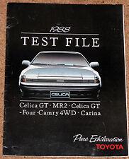 1988 Toyota archivo de pruebas Folleto-Celica Gt4, Celica Gt, Mr2 V Golf Gti, Camry 4wd