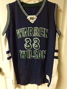 Vintage Warren Wilson College # 33 Basketball Jersey Womens X-Large Delong