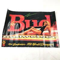 Vintage Miss Budweiser 1991 World Champion Bernie Little Large Beer Poster