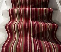 New Red Orange Striped Stair Carpet Runner Rug Narrow Wide Any Length Per Metre