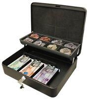 "Ultimate Cash Box 12"" For Petty Cash Metal Security Money Safe Key Lock Lockable"