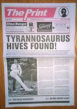 THE HIVES The Print PROMO NEWSPAPER 2004 Tyrannosaurus Hives Tour Poster RARE