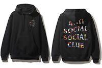 DS Anti Social Social Club ASSC Logo Flag  Black Hoodie in hand Supreme Bape