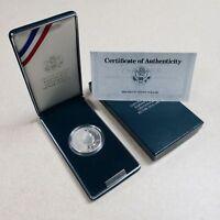 (1) 1990 P U.S. Eisenhower Centennial $1 Proof Silver Dollar Coin w/COA & Box