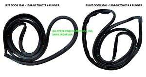 Toyota 4Runner or Pickup 1984-88 Weatherstrip Door Seal Rubber Pair Left Right