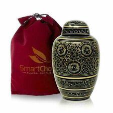 Cremation Urn for Human Ashes Elegant Black and gold (Adult)