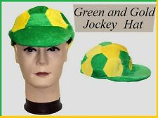 AUSSIE Green Yellow JOCKEY HAT CAP Australia Commonwealth Olympic Soccer St Pat