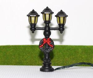 LYC10 5 Stk. Gartenlampen 96mm 3V Spur 0 / 1 Leuchte Lampen mit Kranz NEU