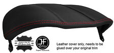 RED STITCH BINNACLE SPEEDO HOOD REAL LEATHER COVER FITS JAGUAR F TYPE 2012-17