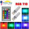 2x T10 RGB LED Remote Control Multicolor Bulb Parking Light W5W 192 194 168 2825