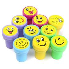 10Pcs Emoji Smile Silly Face Stamps Set Stationery For Kids Gift Party Reward