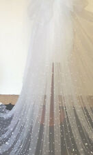 """1m white  new tulle fabric pearl beaded  bridal Wedding fabric60""""wide"""