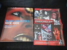 Mick Rock Blood and Glitter UK Photo Book w Japan Cover Flyer Bowie Lou Reed Syd