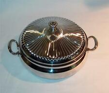 Gorham Silver plate casserole serving dish. YH 307. Polished and ready to use.