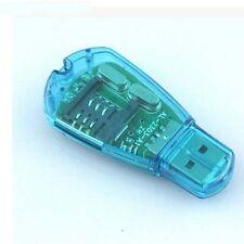 For Tablet Portable USB SIM Card Reader Writer Copy Edit Cloner GSM Clear