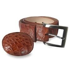 Corral Men's Cognac Patchwork Caiman Crocodile Belt - B0101