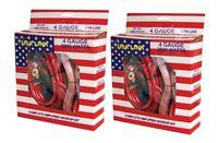 2 Q-Power 4 Gauge Ga 2000W Car Amplifier Wiring Wire Amp Installation Kits + RCA