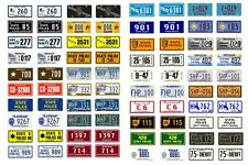 1/25 1/24 scale model car assorted USA police license plates state tags 1:25