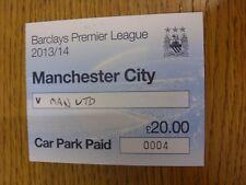 Billete De 22/09/2013: Manchester City Manchester United v [Aparcamiento pagado pasar]. th