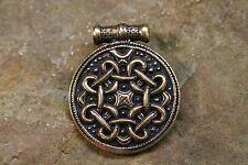Pendentif Amulette Viking Nœud Bronze plus Bracelet En Cuir Viking Viking