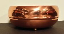 "Vintage Copper Guild Taunton Mass Bowl 6"" Diameter 2.5"" Tall 3 Brass Feet Great!"