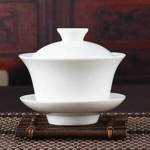 Chinese Gaiwan Tea Set Kung Fu White Ceramic Teaware Sancai Teapot Teacup Tools