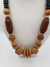 Necklace W8 Vintage Taiwan Wood