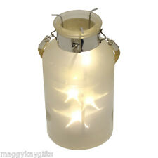 19cm LED Star Lantern - Light Garden Wedding Hanging Decoration Home Table Glass