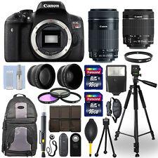Canon EOS Rebel T6I Camera + 18-55mm STM + 55-250mm STM 4 Lens 32GB Valued Kit