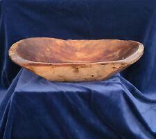 New listing Antique Primitive Wooden Bowl Bread Dough Wood Trough Rustic 1800s Farm Barn