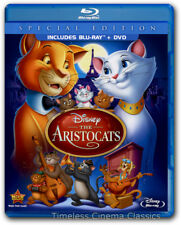 The Aristocats Blu-ray/DVD New Special Edition 2-Disc Set Phil Harris Eva Gabor