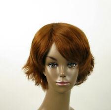 perruque AFRO femme 100% cheveux naturel châtain clair cuivré ref SHARONA 05/30